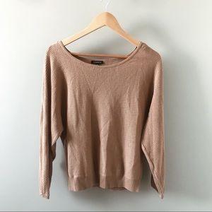 Dynamite Tan Ribbed Knit Sweater
